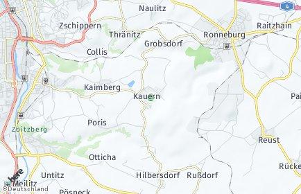 Stadtplan Kauern