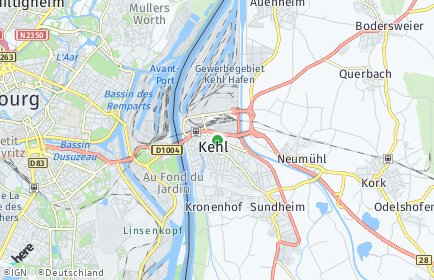Stadtplan Kehl