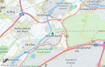 Stadtplan Kelsterbach