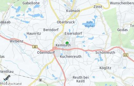 Stadtplan Kemnath