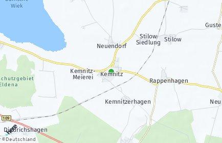 Stadtplan Kemnitz bei Greifswald