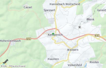 Stadtplan Kempenich
