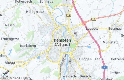 Stadtplan Kempten OT Mariaberg