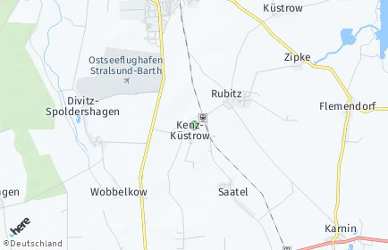 Stadtplan Kenz-Küstrow