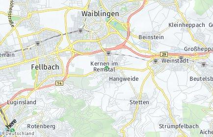 Stadtplan Kernen im Remstal