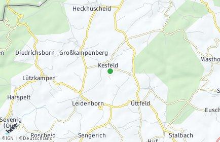Stadtplan Kesfeld