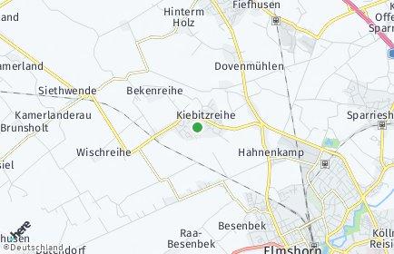Stadtplan Kiebitzreihe