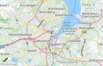 Stadtplan Kiel OT Blücherplatz