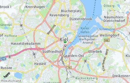 Stadtplan Kiel OT Wik