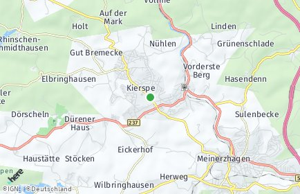 Stadtplan Kierspe