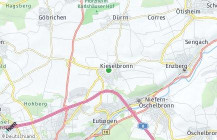 Stadtplan Kieselbronn