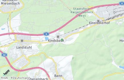 Stadtplan Kindsbach