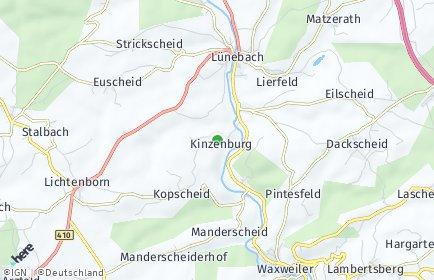 Stadtplan Kinzenburg