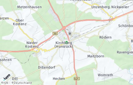Stadtplan Kirchberg (Hunsrück)