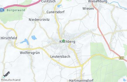 Stadtplan Kirchberg (Sachsen)