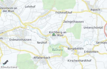 Stadtplan Kirchberg an der Murr