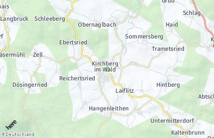 Stadtplan Kirchberg im Wald