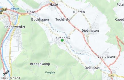 Stadtplan Kirchbrak
