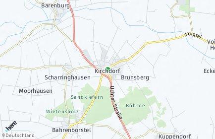 Stadtplan Kirchdorf bei Sulingen