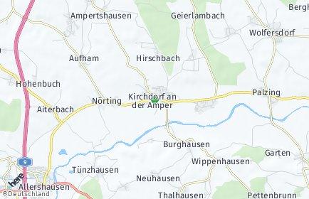 Stadtplan Kirchdorf an der Amper