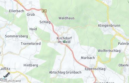 Stadtplan Kirchdorf im Wald