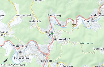 Stadtplan Kirchen (Sieg)