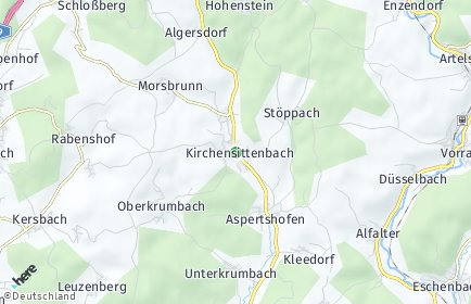 Stadtplan Kirchensittenbach