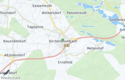 Stadtplan Kirchenthumbach