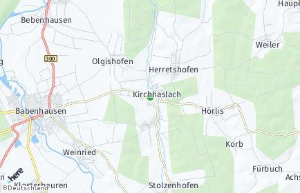 Stadtplan Kirchhaslach