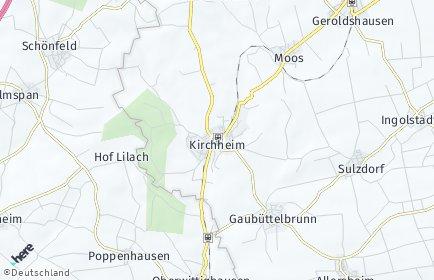 Stadtplan Kirchheim (Unterfranken)