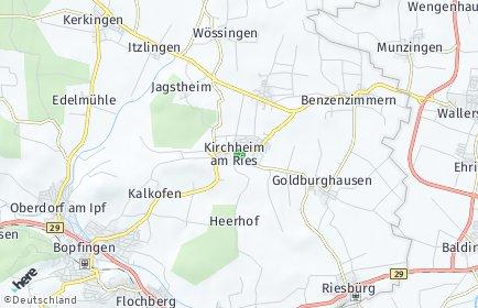 Stadtplan Kirchheim am Ries