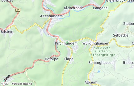 Stadtplan Kirchhundem OT Herrntrop