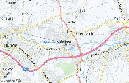 Stadtplan Kirchlengern