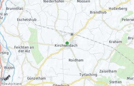 Stadtplan Kirchweidach OT Oberleiten