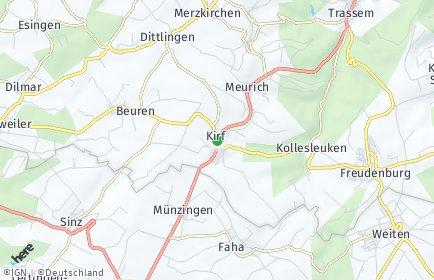 Stadtplan Kirf