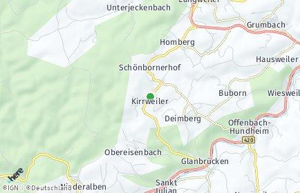 Stadtplan Kirrweiler bei Lauterecken
