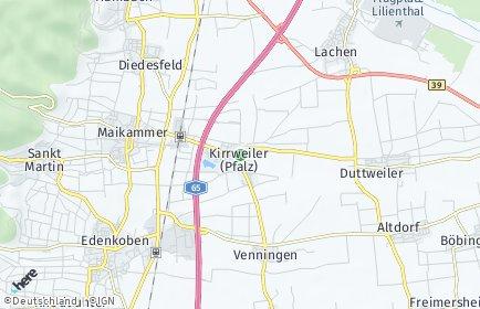 Stadtplan Kirrweiler (Pfalz)