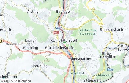 Stadtplan Kleinblittersdorf