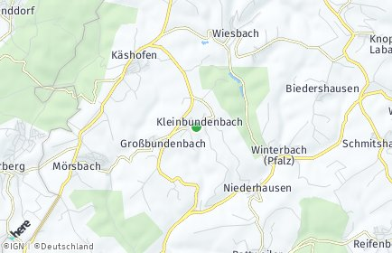 Stadtplan Kleinbundenbach