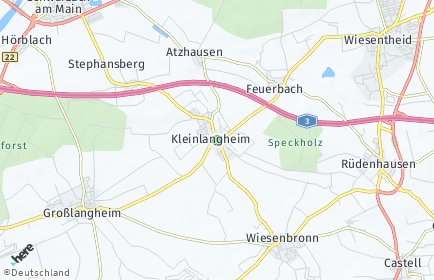 Stadtplan Kleinlangheim