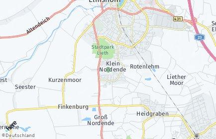Stadtplan Klein Nordende