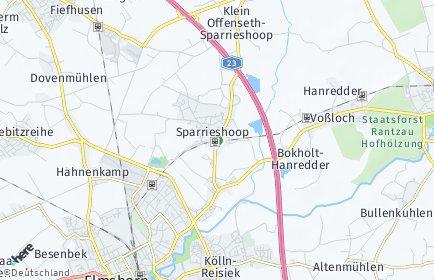 Stadtplan Klein Offenseth-Sparrieshoop