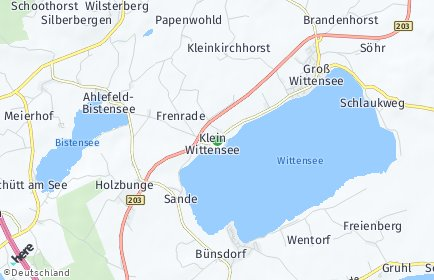 Stadtplan Klein Wittensee