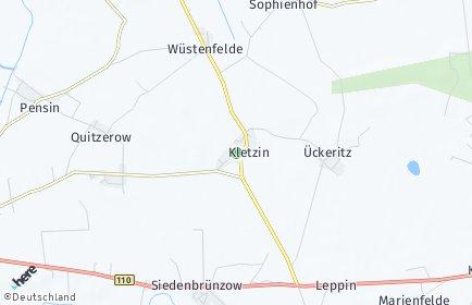 Stadtplan Kletzin