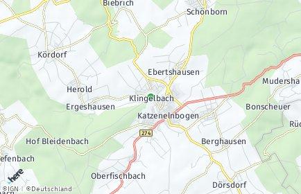 Stadtplan Klingelbach