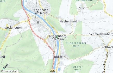 Stadtplan Klingenberg am Main OT Röllfeld