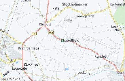 Stadtplan Klixbüll