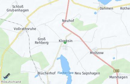 Stadtplan Klocksin OT Neuhof