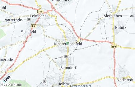 Stadtplan Klostermansfeld