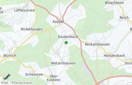 Stadtplan Kludenbach